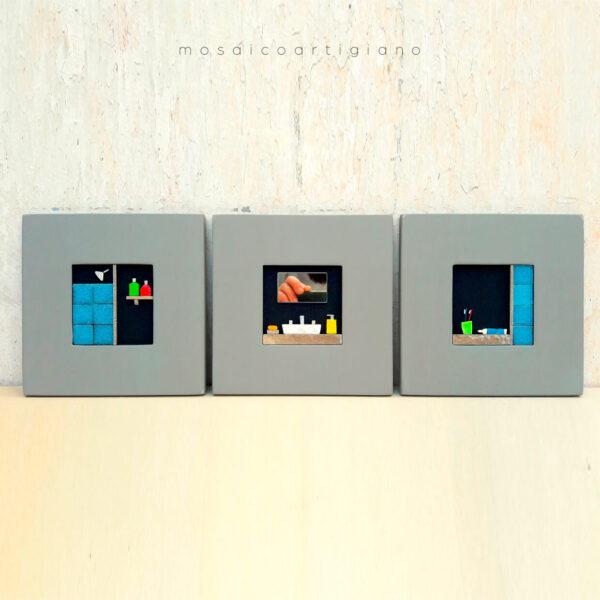 c-18-bagno-trittico-cornice-tortora-blu-bianco-quadro-mosaico