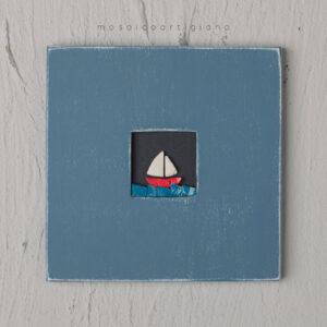 c-18-barchetta-cornice-blu-bianco-quadro-mosaico