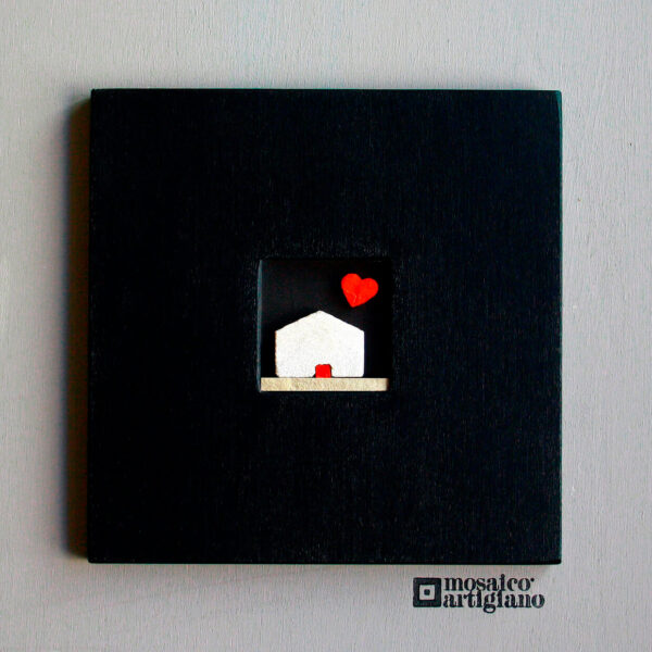 c-18-casetta-love-cornice-nero-quadro-mosaico