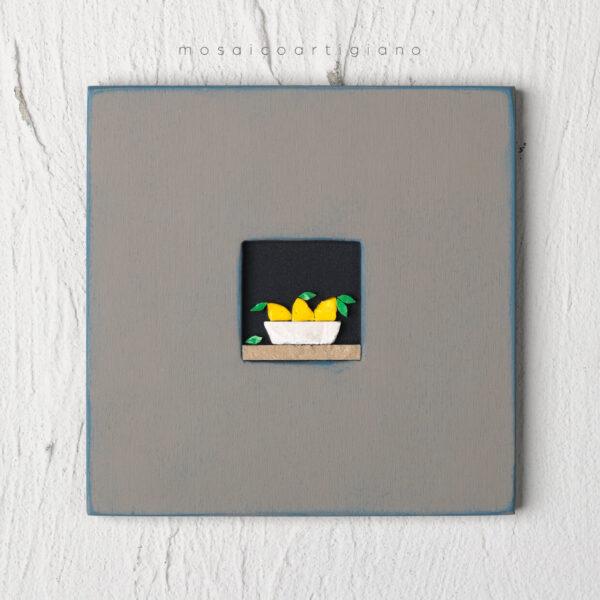 c-18-cesto-limoni-cornice-tortora-blu-quadro-mosaico