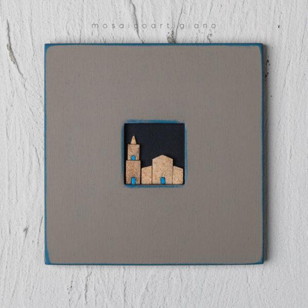 c-18-duomo-e-campanile-cornice-tortora-blu-quadro-mosaico