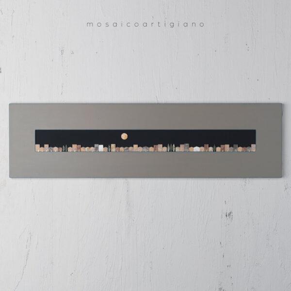 panoramica casette Mosaico contemporaneo quadro orizzontale moderno