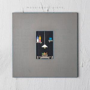 lato-35-interno-cucina-cesto-frutta-cornice-tortora-blu-quadro-mosaico