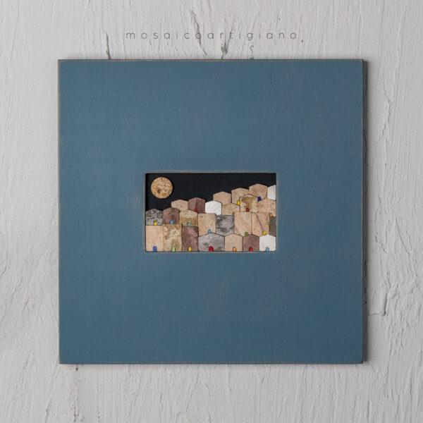 lato-35-le-village-plus-orizzontale-cornice-tortora-blu-quadro-mosaico