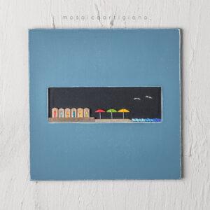 lato-35-spiaggia-cornice-blu-bianco-quadro-mosaico