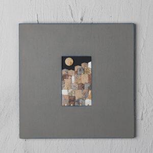 mosaico aartigiano lato35 le village porte oro giallo